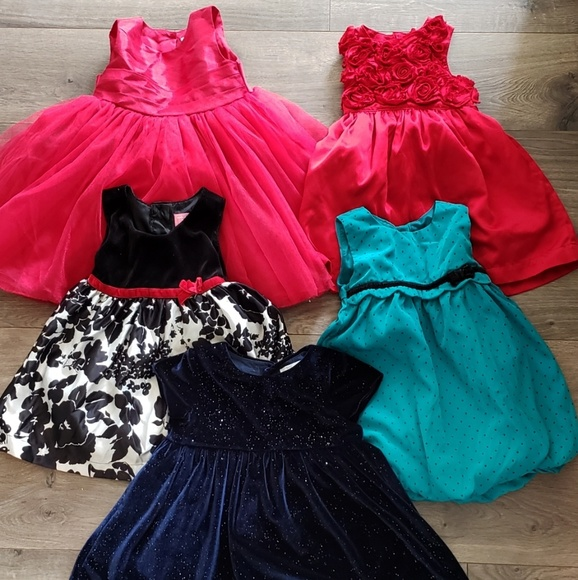 Zara Other - Lot of 5 12m babygirl holiday dresses